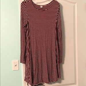 Old Navy Striped Long Sleeve Dress